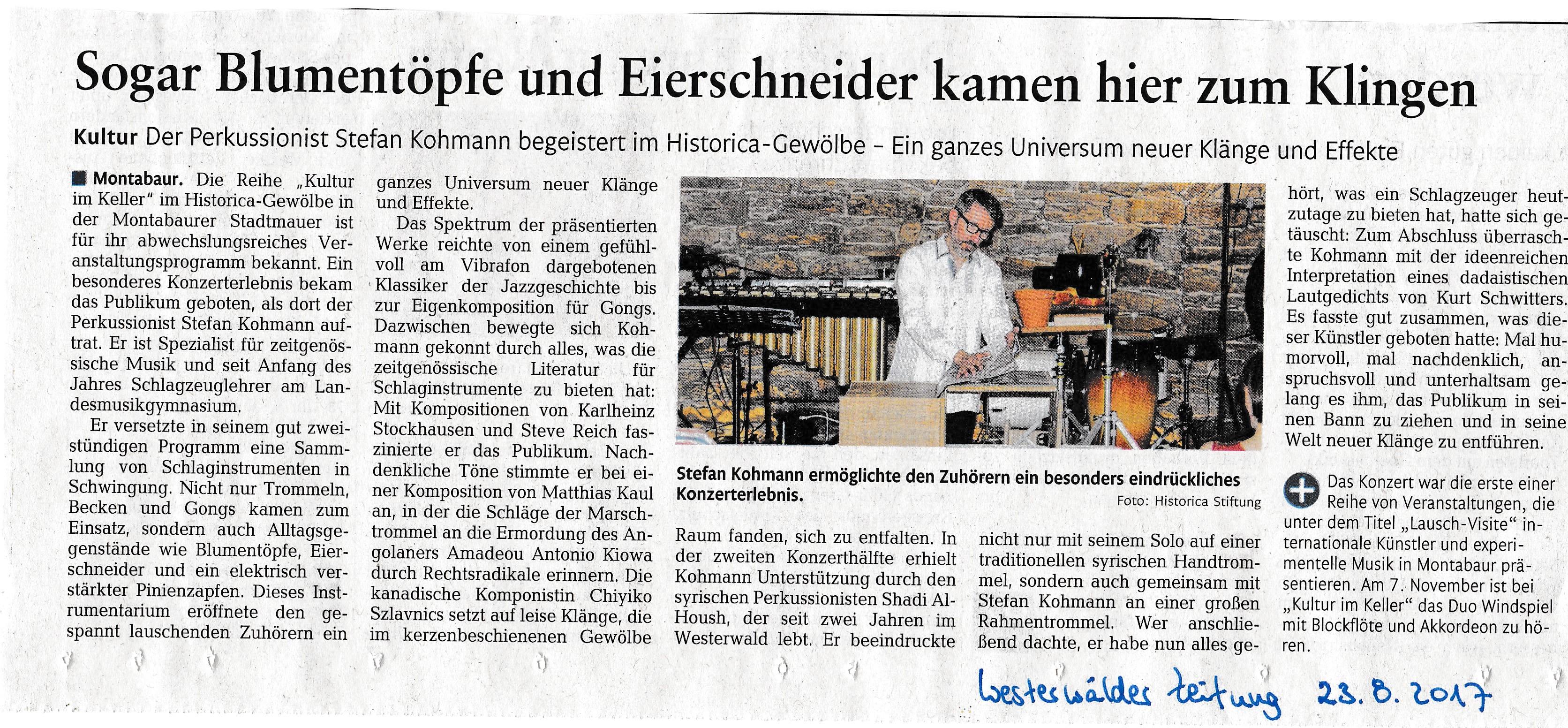 Lausch-Visite 1 WW Zeitung 23.08.17 Kopie